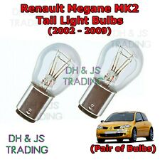 Renault Megane Tail Light Bulbs Pair of Rear Tail Light Bulb Lights MK2 (02-09)