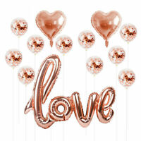 Confetti Birthday Balloon Helium Decor Set Love Rose Gold Wedding Foil Party