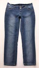N128 Angels Jeans Low Rise Slim Straight Super Stretch Tag sz 20 (Mea 34x30)