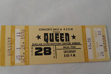 Queen Original 1978_Unused Concert Ticket_Jazz Tour_Dallas, Tx