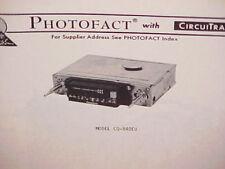 1977 PANASONIC 8-TRACK STEREO TAPE PLAYER/AM-FM RADIO SERVICE MANUAL CQ-840EU