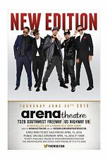 New Edition 2016 Houston Concert Tour Poster - R&B, Soul, Bubblegum Pop Music