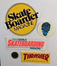 Vintage Skateboard Sticker Lot - Skateboarder Magazine