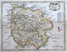 HEREFORDSHIRE HEREFORD    BY ROBERT MORDEN  c1720  GENUINE ANTIQUE ENGRAVED MAP
