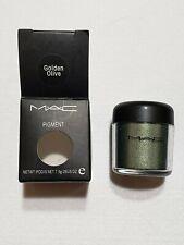 New MAC **GOLDEN OLIVE** Eye Shadow Pigment 7.5g/.26oz Jar *Rare* Discontinued