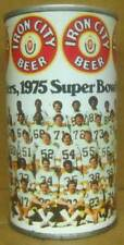 Iron City Beer ss 12oz Can 1975 Pittsburgh Steelers, Nfl, Pennsylvania B.O. gd.1