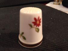 Royal Adderly Porcelain Thimble  Flowers England