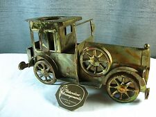 Vintage Small Metal Car Truck Planter Candle Holder by Naturaline Arrangements