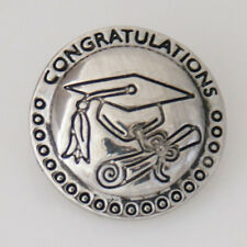 SNAP IN BUTTON CHARM FITS GINGER SNAPS STYLE JEWELRY GRADUATION SCHOOL #104