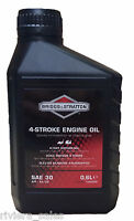 Briggs & Stratton SAE30 Lawnmower Engine Oil. 600ml. 0.6lt 100005E Genuine Part