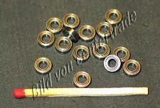 10 pezzi cuscinetti a sfere miniatura scanalature a sfere a 4 x 7 x 2,5 mm ZZ mr74 SEALED NUOVO
