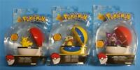 TOMY Pokemon SET OF THREE DIFFERENT Clip & Carry Poke BALLS SUPER DEAL