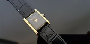 Raymond Weil Vintage 1970's Mid Size Gold Plated Mechanical Tank Watch.