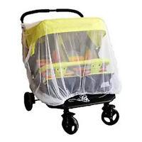 Newborn Double Stroller Mosquito Net Baby Buggy Stroller Pram Protector Case G