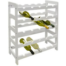 ASHBY - 5 Tier /25 Bottle Wooden Free Standing Wine Rack - White KI3120