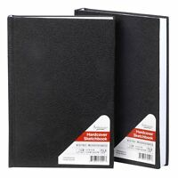 "Artlicious - 2 Hardcover Sketch Books Hardbound Value Pads - 5.5"" X 8"" - 440 ..."