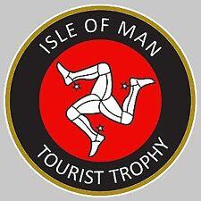 ISLE OF MAN TOURIST TROPHY ILE DE MAN STICKER RACING TRACK 8cm STICKERS