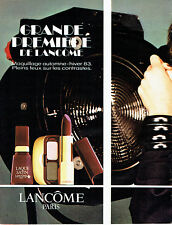 Publicité Advertising 088  1983  maquillage Lancome vernis rouge ongles