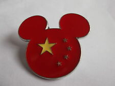 Disney's Mickey Mouse Head Chinese Flag Colours Pin Badge