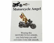 New listing Motorcycle Angel With Usa Flag Vest Pin * Free Usa Shipping * Made In Usa