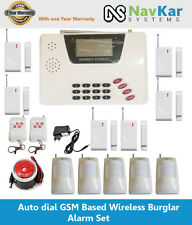 Wireless GSM Burglar Intruder Home House Office Security Alarm System +Detectors