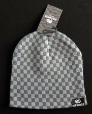NWT ECKO UNLTD. Men Grey Checkered Beanie(Size One Size) NEW