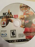 NCAA FOOTBALL 09 - PLAYSTATION 3 - PS3 - DISC ONLY - VERY GOOD - FAST SHIP!