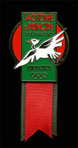 SAO TOME's SCARCE DATED OLYMPIC DELEGATION BADGE - TOKYO 2020!!