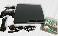 Sony Playstation 3 Slim 120GB Console Black CECH 2003A + Dirt 2 Video Game