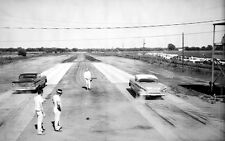 1958 Chevy's Burning Rubber at Drag Race Starting line 1959  8 x 10  Photograph