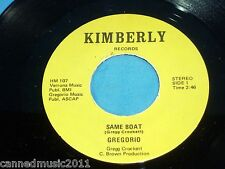 Gregorio: Same Boat / You  [NEW, and unplayed]