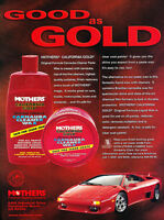 1997 Lamborghini Diablo Mothers Wax -   Vintage Car Advertisement Ad J53