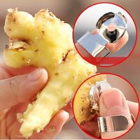 3Pcs Stainless Steel Slicer Cutter Chestnut Ginger Garlic Skin Remover Peeler