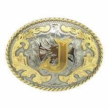 Belt Buckle for Men and Women Western Belt Buckle Initial Letters J