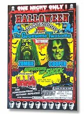 "ALICE COOPER ROB ZOMBIE ""HOOTENANNY"" 2010 TOUR POSTER LITHOGRAPH LICENSED"