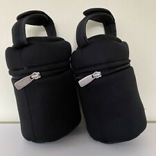 X2 Tommee Tippee Closer to Nature Insulated Baby Bottle Bag Carry Travel Holder