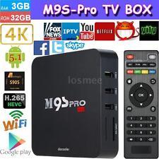 M9S-PRO 3G/32G Android 6.0 S905X Quad Core TV BOX 4K Streaming WIFI Media Player