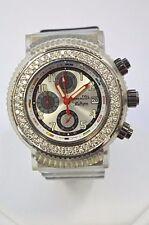 W576- STENDARDO Diamond Bezel Chrono Mov't Full Immersion Watch w/ 2 Extra Bands