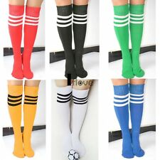 Ladies Mens Top THIGH HIGH SOCKS Over Knee Girls Womens Cheerleader Stockings UK
