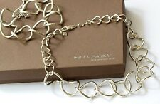 Silpada SET Large Link Silver Necklace N1633 & Bracelet B1632 $298 Retired!