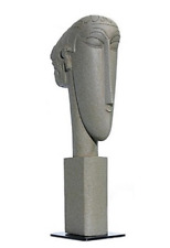 Abstract Female Head by Modigliani, sculpting