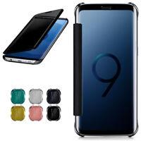 Étui à Clapet pour Samsung Galaxy S9 Plus Etui Coque Miroir Étui 360 Transparent