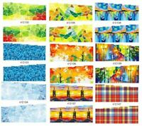 "18 Sets Fall Blues Nail Art Stickers Water Decals Transfer Wraps C 2.75"" #A"