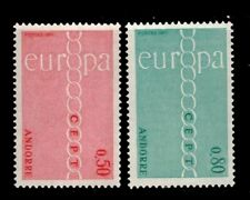 Andorra stamps, Europa Issue SC# 205-6 MLH LOT,CV:$20.00