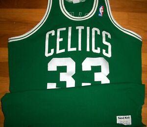 1986-87 Celtics Larry Bird Authentic Game Jersey Sz 46 Sand Knit Berlin WI RARE