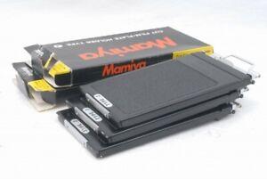 Mint Mamiya Cut Film Plate Back Holder Type J 3set *CP9879