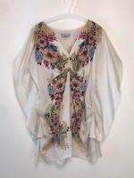 Yoana Baraschi M Blouse Perennial Awakening Blouse Silk Floral Top Tunic Top