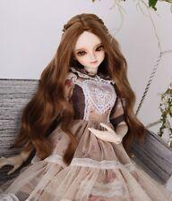 "New 1/4 Girl BJD SD DOC DOD LUT Doll Wig Long Dollfie 7"" Bjd Doll Wig GA86-B"