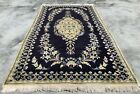 Distressed Hand Knotted Vintage Naeen Wool Area Rug 7 x 4 Ft (4183 KBN)