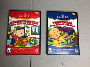 Caillou Preschool Kindergarten 60+ Activities PC CD ROM English Spanish French